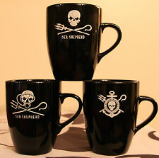 Set of 3 Sea Shepherd Marrow Earthenware Mug ,Jolly Roger, Neptune's Navy, Dive