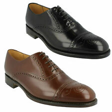 e9925d8b OBAN LOAKE MENS BLACK & BROWN LEATHER LACE UP SMART FORMAL SEMI BROGUE SHOES