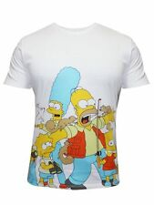 Mens The Simpsons Round Neck Half Sleeve T Shirt by Free Authority