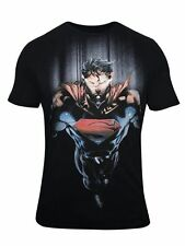 Mens Superman Man of Steel Round Neck Half Sleeve T Shirt by Free Authority