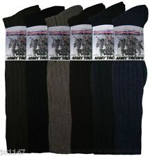 MENS WOOL THERMAL LONG HOSE MILITARY ACTION ARMY HEAVY DUTY SOCKS SIZE 6 - 11