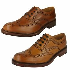 Mens Loake Hand Burnished Tan Calf Leather Country Brogue Lace Up Shoes Ashby