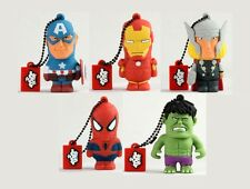 MARVEL USB PEN DRIVE 8GB AVENGERS CAPTAIN AMERICA IRON MAN THOR HULK SPIDER MAN