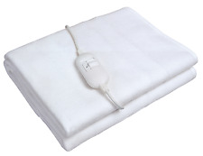 Electric Heated Under Blanket Fleece Washable SINGLE DOUBLE Size Heating Sheet