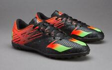NEW Adidas Messi 15.4 Mens Adults TF Astro Turf Football Boots - Black & Red