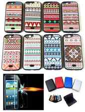 Mobile Phone Back Cover Case for + Tempered Glass + Security Credit Card Wallet
