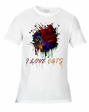 I love Cats wear it with pride declare your love of everything feline White T