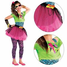 Neon Teen Party Retro 80s Colourful Girls Teens Fancy Dress Costume Party