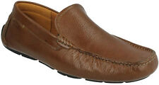 DAVONT DRIVE MENS CLARKS TAN LEATHER SLIP ON LOAFER STYLE CASUAL SHOES SIZE