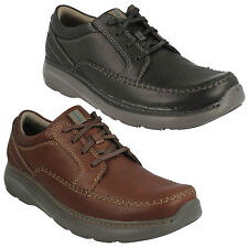 CHARTON VIBE MENS CLARKS LEATHER LACE UP LIGHTWEIGHT CASUAL WORK SHOES SIZE