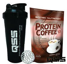 SCITEC NUTRITION PROTEIN COFFEE 600G HIGH PROTEIN LOW FAT&CARBS HOT OR COLD SHAK