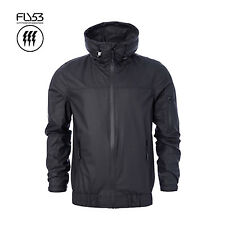 FLY53 MENS ANTHRACITE BLACK TYWIN WATERPROOF PU JACKET RRP £60 SAVE 75% OFF
