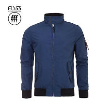 FLY53 MENS INSIGNIA BLUE HARRINGTON STYLE CHURCHILL JACKET RRP £65 SAVE 75% OFF
