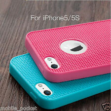 Soft Silicone Grid Design Back Case Cover For iPhone 5 / 5S