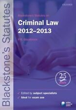 Blackstones Statutes on Criminal Law 2012-2013 (Blackstones Statute Series), , U