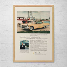 VINTAGE LINCOLN CAR Ad - Classic Car Poster, Old Car Ad, Retro Car Print, Vintag