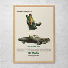 VINTAGE DODGE CAR Ad - Man Cave Car Poster Garage Poster Mechanic Car Wall Art C