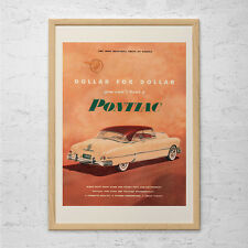 VINTAGE PONTIAC CAR Ad - Man Cave Car Poster Garage Poster Mechanic Car Wall Art