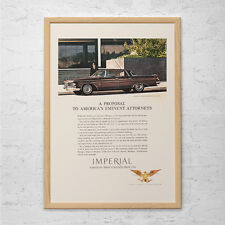 VINTAGE IMPERIAL CAR Ad - Classic Car Poster, Garage Poster, Mechanic Wall Art,