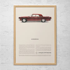 LINCOLN CONTINENTAL CAR Ad - Classic Car Poster, Garage Wall Art, Mechanic Gift,