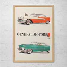 VINTAGE GM AD - Rockabilly Car Print, Vintage Car Poster, General Motors Ad, Cla