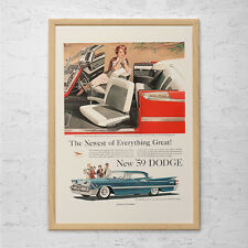 VINTAGE DODGE CAR Ad - Rockabilly Car Poster Garage Poster Mechanic Car Wall Art