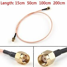 RG316 Cable RP.SMA Macho Jack To SMA Macho Enchufe Recta Pigtail