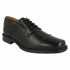 DRIGGS CAP MENS CLARKS BLACK LEATHER LACE UP TOE CAP FORMAL WORK PARTY SHOES