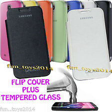 Back Replacement Flip Cover And Tempered Glass For Samsung Galaxy S4 mini I9190