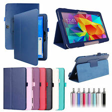 """PU Leather Folio Case Cover For Samsung Galaxy Tab 4 10.1""""  SM-T530/T531/T535"""