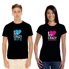 Giftsmate I Love Crazy Husband Wife Men Women Cotton Couple Tshirts, Love Gifts
