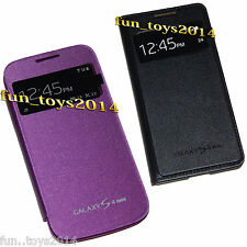 BACK REPLACEMENT S-VIEW FLIP FLAP COVER CASE FOR SAMSUNG GALAXY S4 MINI i9190