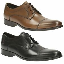 BANFIELD CAP MENS CLARKS LEATHER TOE CAP LACE UP SMART FORMAL WORK SHOES