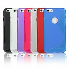 Wave S-Line Silicone Gel Case Cover For Apple iPhone 5 5S Free Screen Protector