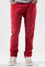 FLY53 MENS RED CATO DENIM DESIGNER TAPERED JEANS PANTS RRP £60 SAVE 75% OFF