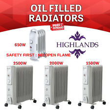 7 9 11 Fin Oil Filled Radiator Heater Portable Electric Thermostat Energy Saving