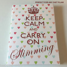DIARY/TRACKER/NOTEBOOK/ WEIGHT LOSS/FOOD/SLIMMING/DIET/EXERCISE/NOTES/KEEP CALM