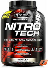 MUSCLETECH NITROTECH NITRO TECH PERFORMANCE SERIES WHEY ISOLATE LEAN MUSCLE
