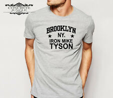IRON MIKE BROOKLYN T-SHIRT_TYSON_GYM_BOXING_ICONIC_SWAG_HIP HOP_LEGEND_ARCH_GREY