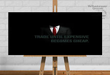 Trading Quote Poster Forex Binary Options Quote Picture Print Gift Wall Art HD