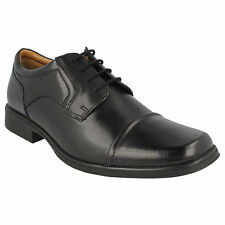 MENS CLARKS LACE UP TOE CAP LEATHER FORMAL WORK OFFICE SHOES HUCKLEY CAP