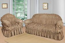 Beige Jacquard Sofa Covers for 1, 2 & 3 seater sofa / Alternate to Sofa Throw