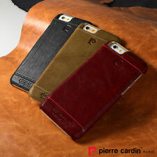 """PIERRE CARDIN Genuine Leather Hard Back Case Cover For New iPhone 6/6S 4.7"""""""
