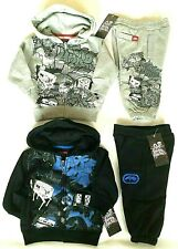 Ecko Unlimited Baby Toddler Tracksuit Hood Grey Black 6-12 12-18 18-24 Months