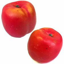Artificial Nectarines - Decorative Plastic Fruit Christmas - Choose Pack Size