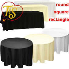 White Black Ivory Polyester Tablecloth Table Cloth Cover Banquet Wedding Favor
