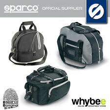 NEW! SPARCO RACING HELMET BAGS for STORAGE & TRAVEL! HANS BAG / BLACK / GREY