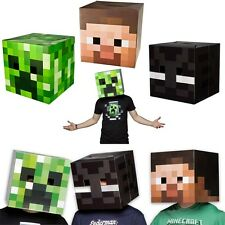 Minecraft Box Head Cardboard Fancy Dress Costume Party Enderman Creeper Steve UK