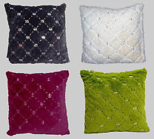 New Luxury Montana Sequin 100% Polyester Cushion Covers 18 x 18 inch 45 x 45cm