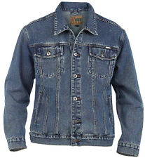 MEN'S WESTERN STYLE DENIM JACKET - STONEWASH BLUE DENIM ( TRUCKER )